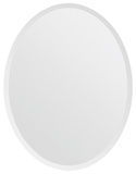 Zsa Zsa Beveled Edge All Glass Oval Mirror