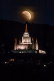 Lunar Eclipse and Mormon Temple