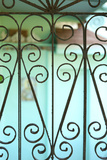 Heart Shapes of a Vintage Wrought Iron Gate