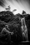Man & Waterfall