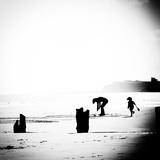 Childplay On Beach