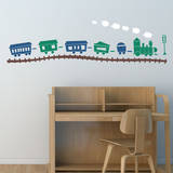Choo Choo Train Set Gentian Wall Decal