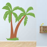 Dino Palms Brown Wall Decal