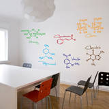 Sweet Molecules Wall Decal
