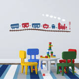 Choo Choo Train Set Red Wall Decal