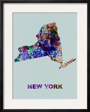 New York Color Splatter Map
