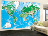 Executive World Map (Write on) Dry Erase Giant Laminated Map Poster