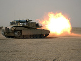 US Marine Corps Personnel Fire Their M1A1 Main Battle Tank Gun