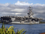 Aircraft Carrier USS Abraham Lincoln Arrives in Pearl Harbor  Hawaii