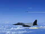 F-15 Eagle Aircraft Fire AIM-7 Sparrow Missiles