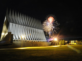 Fireworks Explode Over the Air Force Academy Cadet Chapel