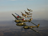 Historic Flight of Five Lockheed P-38 Lightnings