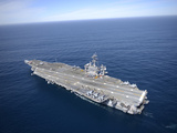 The Aircraft Carrier USS Carl Vinson in the Pacific Ocean