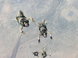 Marines Freefall Over Djibouti  Africa  During Parachute Training