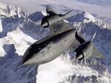 SR-71B Blackbird in Flight