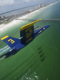 The Blue Angels Perform a Practice Flight Demonstration Over Florida
