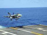 n F/A-18C Hornet Lands Aboard the Aircraft Carrier USS Ronald Reagan