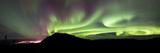 Aurora Borealis Over Gray Peak  Whitehorse  Yukon Canada