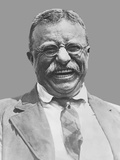 Digitally Restored Vector Portrait of Theodore Roosevelt Smiling