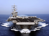 The Aircraft Carrier USS Dwight D Eisenhower Transits the Arabian Sea