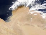 Satellite View of a Dust Storm in Libya