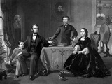 Digitally Restored Vintage Print of President Abraham Lincoln And His Family