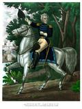 Vintage American History Print of General Andrew Jackson On Horseback
