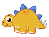 Cute Illustration of a Stegosaurus