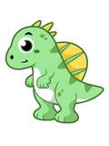 Cute Illustration of a Spinosaurus