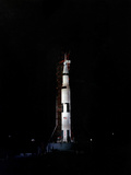 Nighttime View of the Apollo 10 Space Vehicle On Its Launch Pad