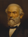 Vintage Civil War Painting of General Robert E Lee