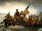 Digitally Restored Vector Painting of George Washington Crossing the Delaware