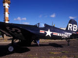 A Side View of a US Marine Corps F4U Corsair World War II Aircraft