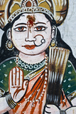 Portrait of Goddess Parvati (Spouse of Shiva) on a Wall in Varanasi