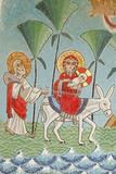 Holy Virgin and Saint John Kamate Coptic Monastery Icon: the Holy Family