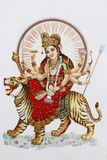 Goddess Sherawali (Durga) Riding a Tiger