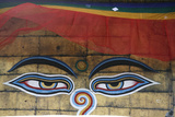 The Eyes of Buddha on Svayambunath Temple (Called Monkey Temple)