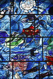 Stained Glass Window in the Synagogue of the Hadassah Hospital