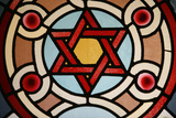 Stained-Glass Window in Eldrige Street Synagogue