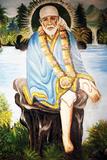 Painting Depicting Sai Baba of Shirdi