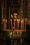 Candles in Saint Georges Orthodox Cathedral