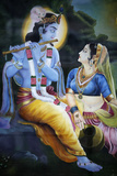 Picture of Hindu Gods Krishna and Rada