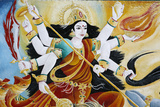 Goddess Durga Defeating Evil