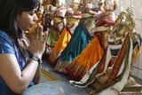 Prayer in Highgate Hill Hindu Temple  London