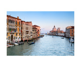 Venice Canal Grande At Sunset