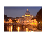 Saint Peters Basilica At Night