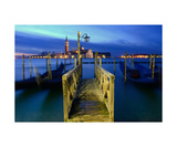 Wooden Pier In Venice At Sunrise