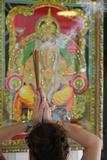 Shiva Temple  Worshipper Praying Ganesha