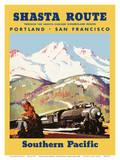 Portland To San Francisco - Shasta Route through the Shasta-Cascade Wonderland Region Reproduction d'art par Maurice Logan