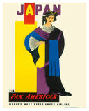JAPAN  Pan American Airlines (PAA) - Japanese Geisha Girl